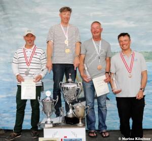 vl: Bo Petersen, Jørgen Svendsen, Greg Wilcox, Gunter Arndt