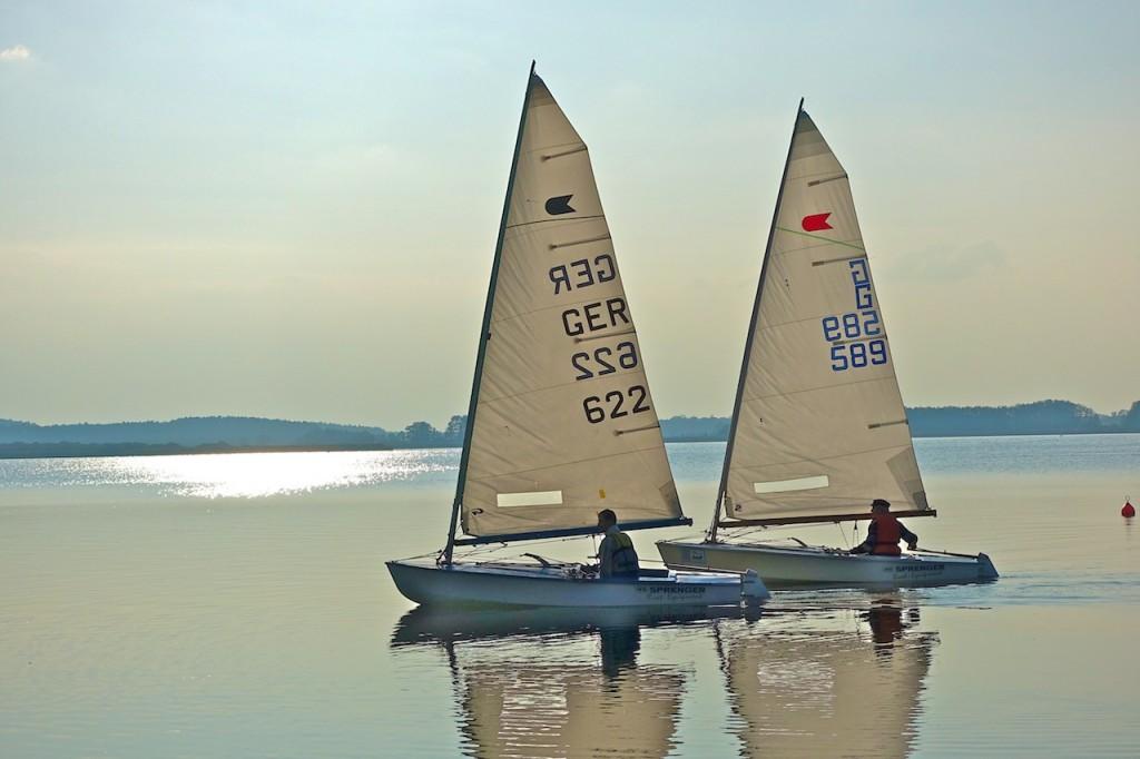Bork v. Bork beim Einsegeln der Schiffe für's Matchrace ...